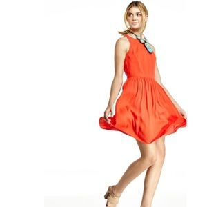 Rebecca Taylor coral poppy cut out back dress